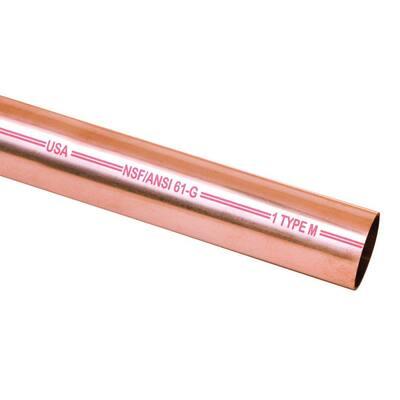 3/4 in. x 60 in. Copper Type M Pipe