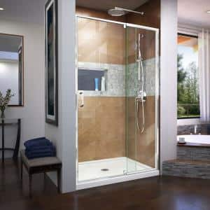 Flex 44 to 48 in. x 72 in. Framed Pivot Shower Door in Chrome