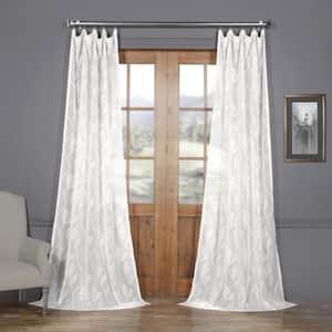 Avignon Vine Floral Rod Pocket Sheer Curtain - 50 in. W x 84 in. L