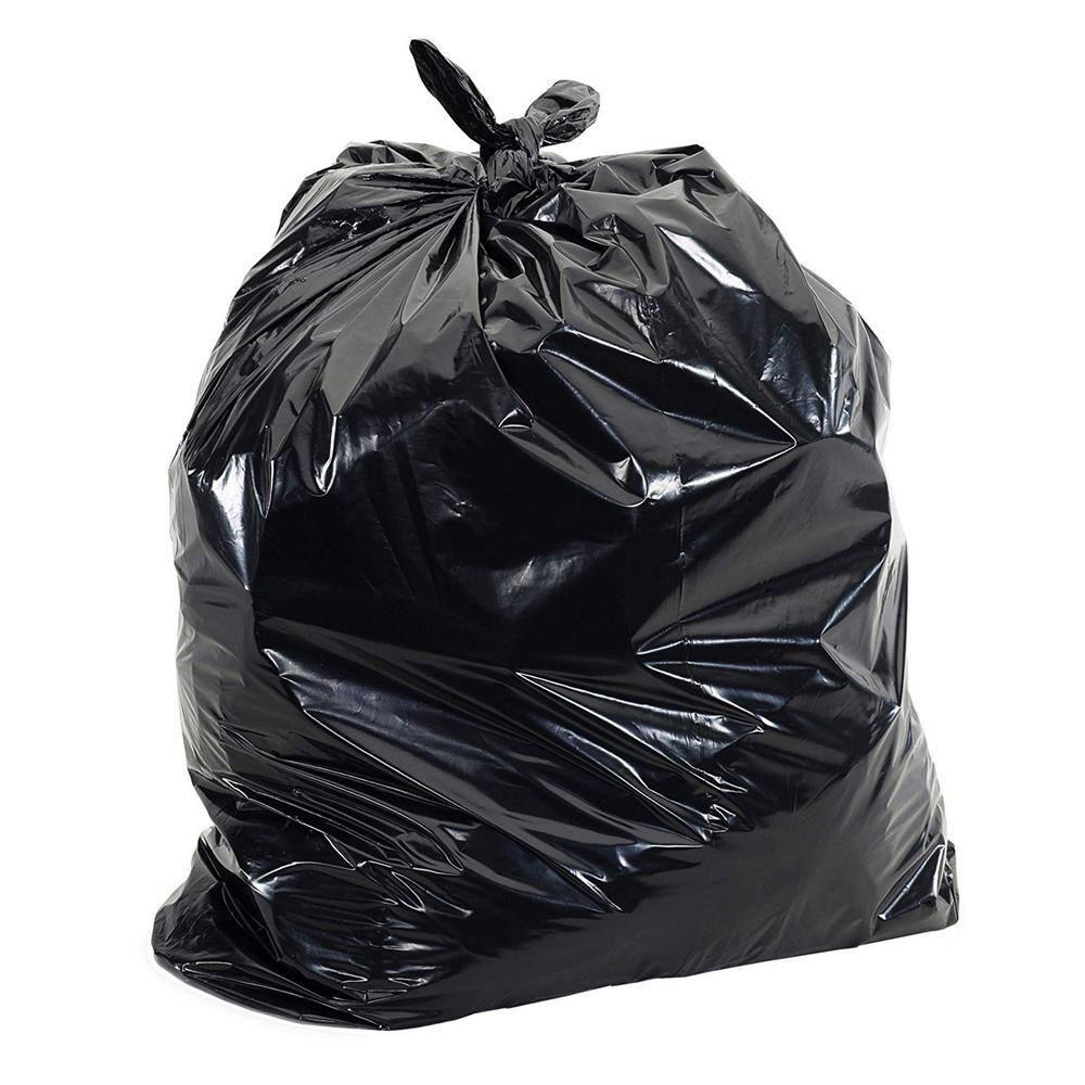 Aluf Plastics Heavy Duty 55 Gallon Trash Bags Large 50 Pack //w Ties 2 MIL x