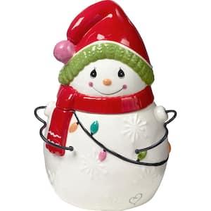 Be Jolly Ceramic Snowman Cookie Jar