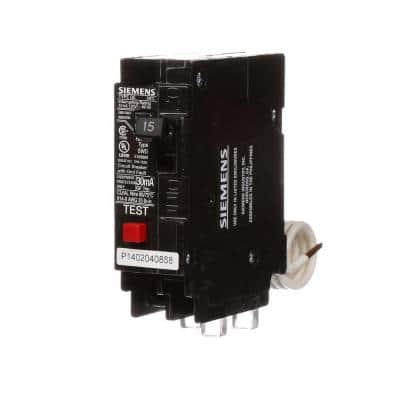 15 Amp Single-Pole Type QE Ground Fault Equipment Protection Circuit Breaker
