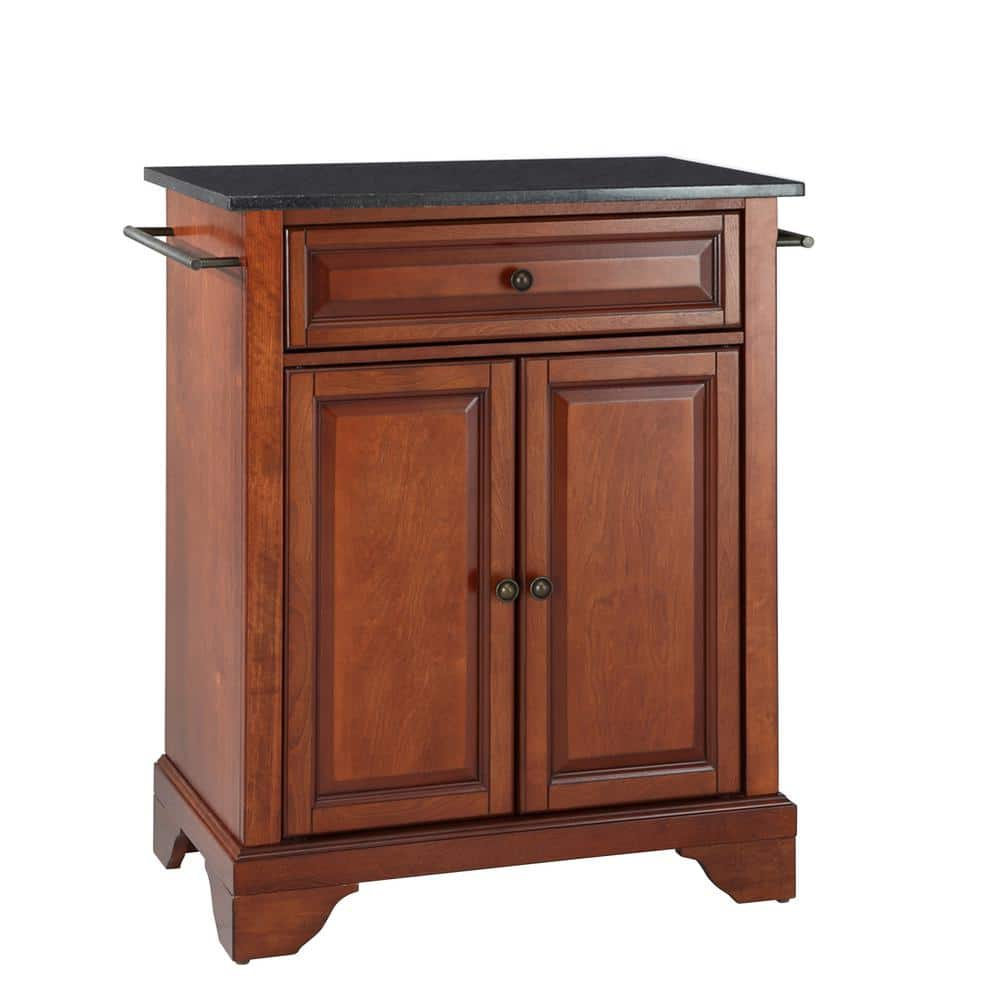 Crosley Furniture Lafayette Cherry Portable Kitchen Island With Granite Top Kf30024bch The Home Depot