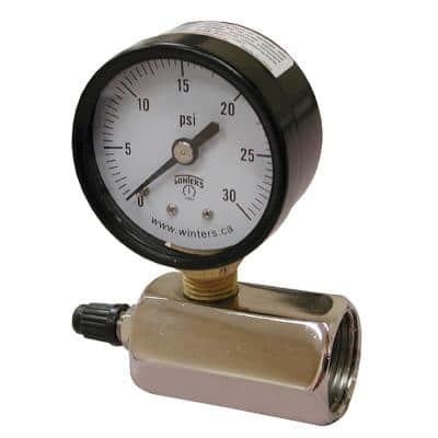 160 PSI Gas Test Gauge Assembly with 2 in. Face and 3/4 in. FIP Inlet