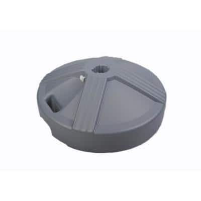 US Weight Fillable Umbrella Base Designed to be Used with a Patio Table in Grey