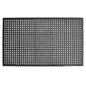 True Step Open Circle Rubber 36 in. x 60 in. Door Mat