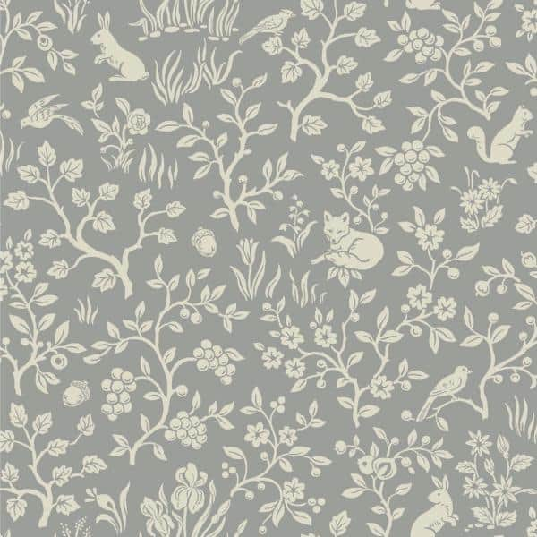 Magnolia Home By Joanna Gaines Fox Hare Gray Animal Print Paper Pre Pasted Strippable Wallpaper Roll Covers 56 Sq Ft Me1571 The Home Depot