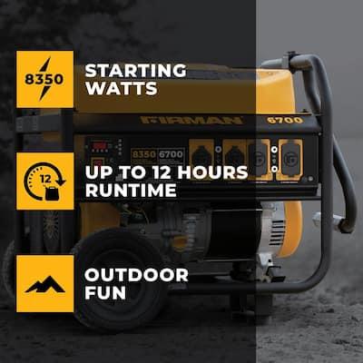 Performance Series 8,350/6,700-Watt Recoil Start Gas Powered Portable Generator with 389cc Engine