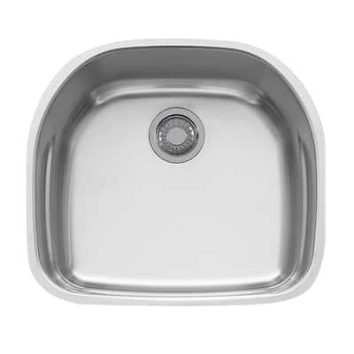 Prestige Undermount Stainless Steel 22.25 in. x 19.875 in. Single Bowl Kitchen Sink