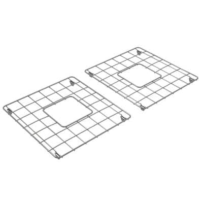 Langley 14-1/8 in. x 15-1/4 in. Wire Grid for Double Bowl Kitchen Sinks in Stainless Steel