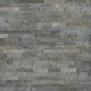 Salvador Platinum Ledger Panel 6 in. x 24 in. Natural Quartzite Wall Tile (10 cases / 80 sq. ft. / pallet)