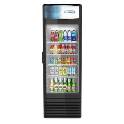 9 cu. ft. Commercial Upright Display Refrigerator Glass Door Merchandiser with LED Lighting in Black