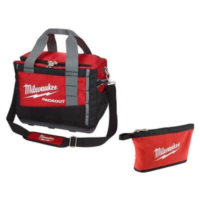 15 in. PACKOUT Tool Bag with Red Zipper Tool Bag