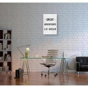 16 in. x 24 in. 'Great Adventures Lie Ahead' by Oliver Gal Printed Framed Canvas Wall Art
