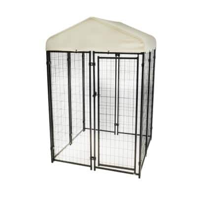 4 ft. x 4 ft. Uptown Pet Kennel Kit with Sunbrella in Tahitian Sand