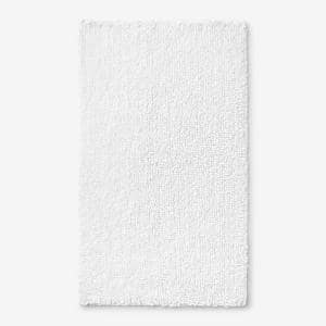 Company Cotton Chunky Loop White 21 in. x 34 in. Bath Rug