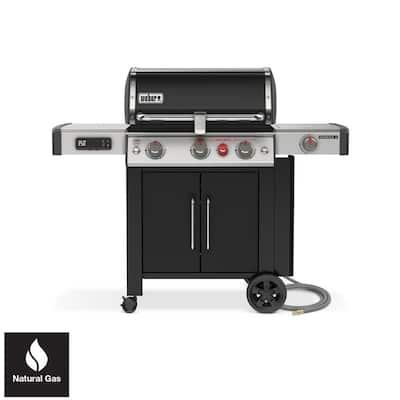 Genesis II EX-335 3-Burner Natural Gas Smart Grill in Black