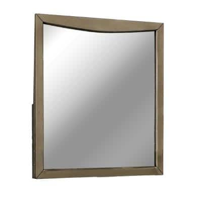 Large Rectangle Gray Classic Mirror (43 in. H x 39.25 in. W)