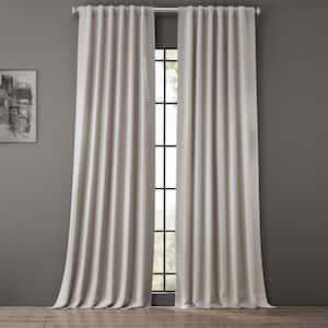 Alabaster Beige Rod Pocket Blackout Curtain - 50 in. W x 120 in. L