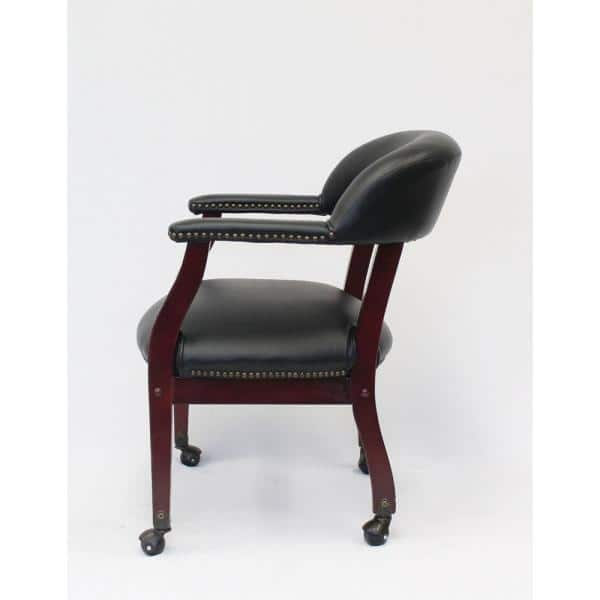 Mahogany Faux Leather Guest, Boss Furniture Reviews