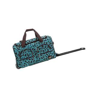 Voyage 22 in. Rolling Duffle Bag, Blueleopard