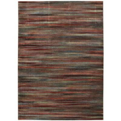 Expressions Multicolor 8 ft. x 11 ft. Geometric Contemporary Area Rug