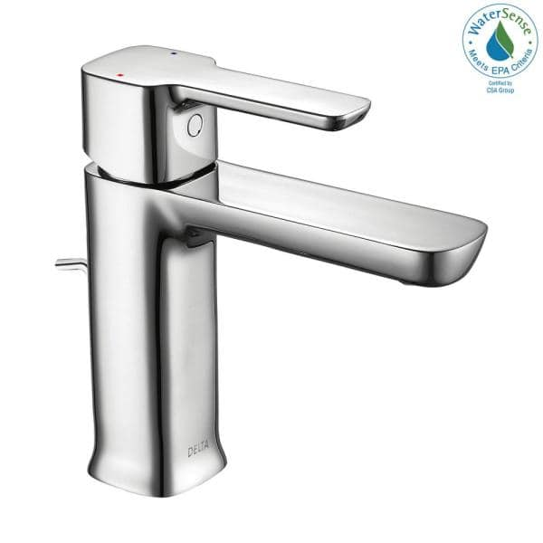 Delta Modern Project Pack Single Hole Single Handle Bathroom Faucet In Chrome 581lf Pp The Home Depot