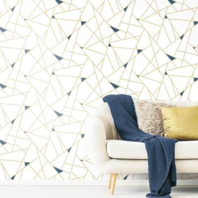 Gold Fracture Vinyl Peel & Stick Wallpaper Roll (Covers 28.18 Sq. Ft.)