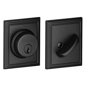 Addison Matte Black Single Cylinder Deadbolt