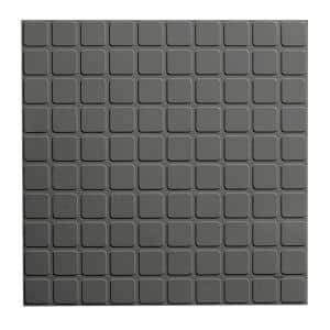 Square Profile 19.69 in. x 19.69 in. Charcoal Rubber Tile
