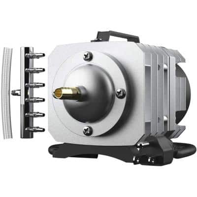 Electromagnetic Commercial 50GPH Air Pump for Aquariums, Fish Tank and Hydroponic Systems