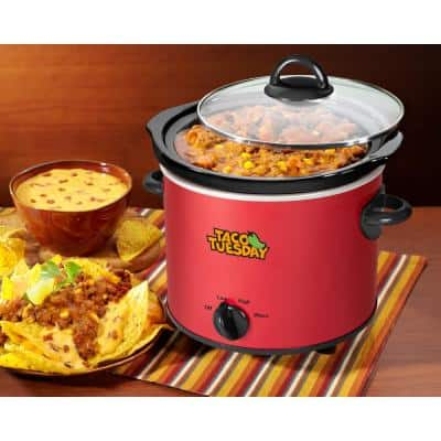 4 Qt. Red Slow Cooker with Cool-Touch Handles