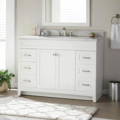Thornbriar 48 in. W x 21 in. D Bathroom Vanity Cabinet in Polar White
