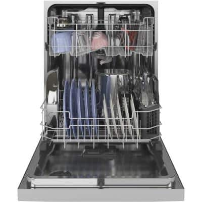 24 in. Stainless Steel Top Control Built-In Tall Tub Dishwasher with Steam Cleaning, Dry Boost, and 48 dBA