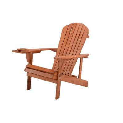 Classic Walnut Wood Adirondack Chair