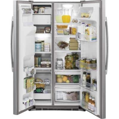 21.9 cu. ft. Side by Side Refrigerator in Stainless Steel, Counter Depth