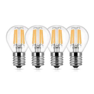 4-Watt (40-Watt Equivalent) S11/G35 E17 Base Edison Not Dimmable LED Light Bulb in Warm White 2700K (4-Pack)