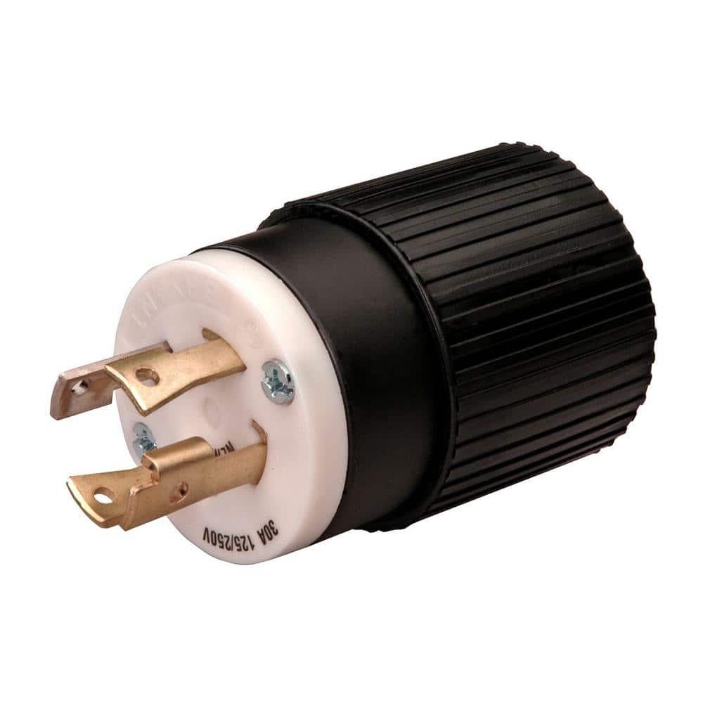 Reliance Controls Twist Lock 30-Amp 125/250-Volt Plug-L1430P - The Home  DepotThe Home Depot