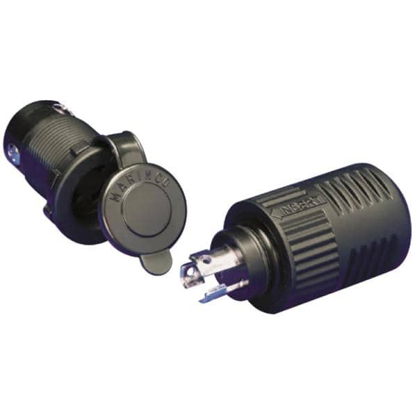 Waterproof Electrical Plug and Socket Deck Connector 3 Pin 5 Amp Boat P1