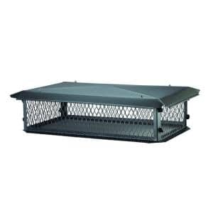41 in. x 17 in. x 8 in. H Chimney Cap in Black Galvanized Steel
