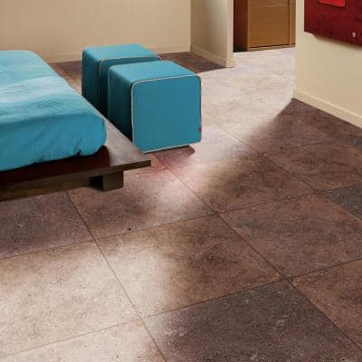 Mediterranean Walnut 16 in. x 16 in. x 1.18 in. Square Tumbled Travertine Paver Tile (1.78 sq. ft.)
