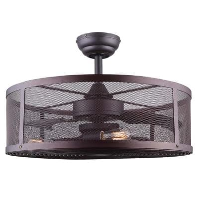 Arris 24 in. Oil Rubbed Bronze Ceiling Fan with Light Kit