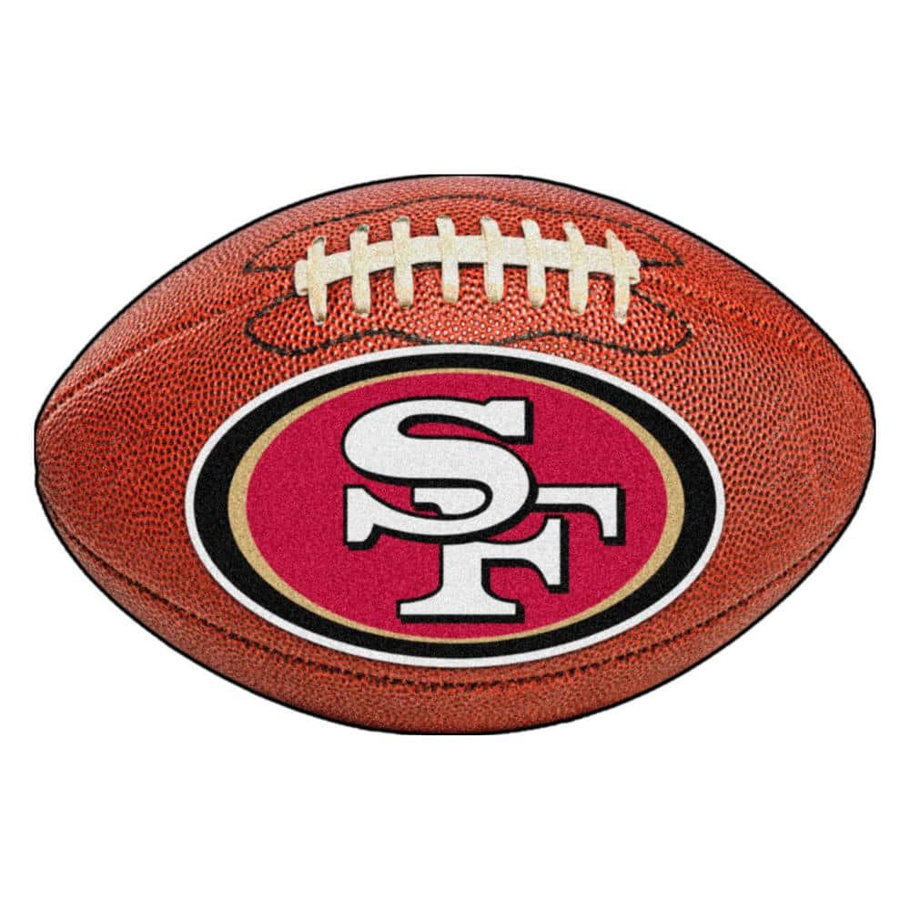 Fanmats Nfl San Francisco 49ers Photorealistic 20 5 In X 32 5 In Football Mat 5835 The Home Depot