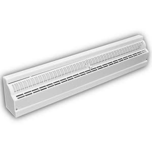 24 in. 1-Way Deluxe Steel Baseboard Register in White