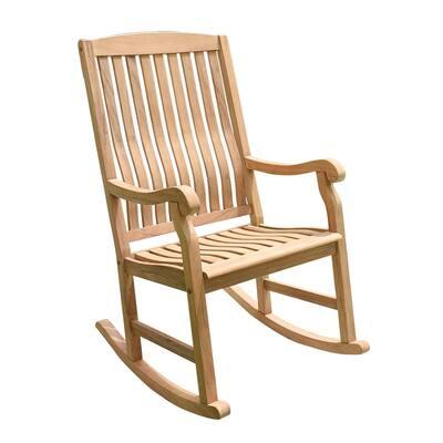 Colton Teak Wood Outdoor Rocking Chair