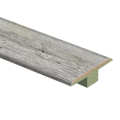 Silver Cliff Oak/Lake Cottage Oak 7/16 in. Thick x 1-3/4 in. Wide x 72 in. Length Laminate T-Molding