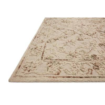 Halle Natural/Sage 8 ft. 6 in. x 12 ft. Traditional Wool Pile Area Rug