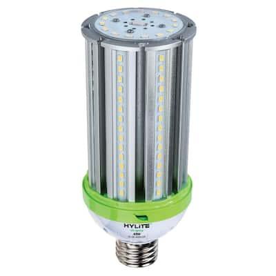 45W omni-cob LED Lamp 200W HID Equiv 5000K 6300 lumens Ballast Bypass 120-277V E39 Base IP 65 UL & DLC Listed