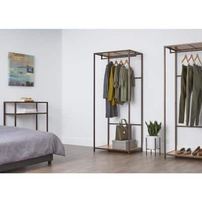 Bronze anthracite Bamboo Clothes Rack (30 in. W x 72 in. H)
