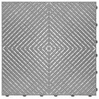 15.75 in. x 15.75 in. Silver Ribtrax Smooth ECO Flooring (6-Tile/pack) (10 sq. ft.)